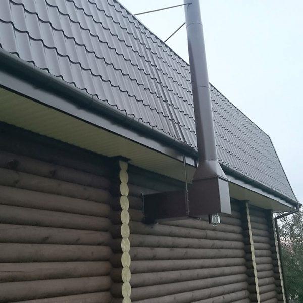 Дымоход в свой дом фото